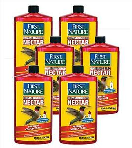 6 Pack First Nature 3054 Red Hummingbird Nectar 6 32 Oz Concentrate Makes 6 Gal