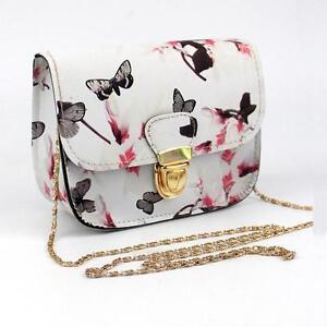 Women Ladies Floral Mini Chain Bag Shoulder Bag Tote Purse Handbag Messenger