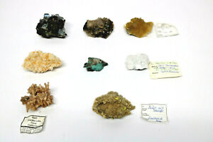 8-verschiedene-Mineralien-Calcit-Pseudomorphose-Cerussit-Boryt-Halit