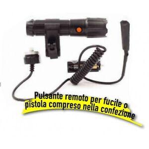Torcia tattica professionale con puntatore laser rosso e aggancio rapido per can