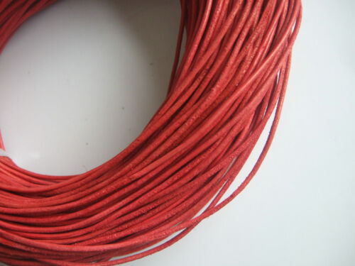 2MM Round Genuine Real Leather Jewelry Cord For Necklace Bracelet Making String