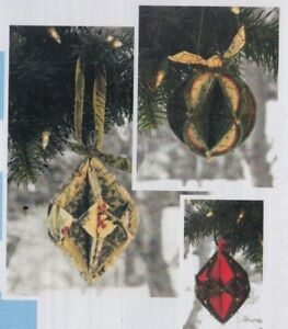 PATTERN-Fold-N-Stitch-Holiday-Ornaments-easy-PATTERN-Poorhouse-Designs