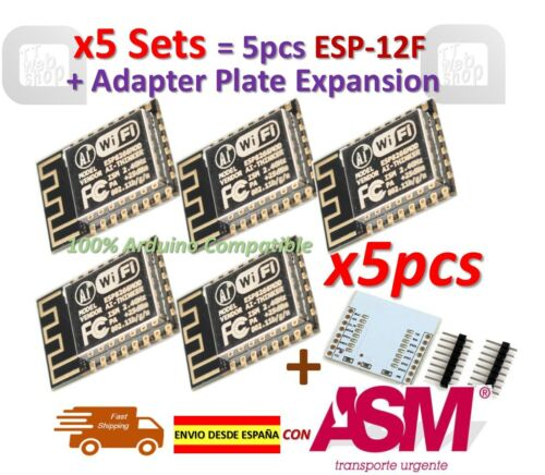 5pcs ESP-12F ESP12F ESP8266 Enhanced version Serial WIFI Plate Expansion