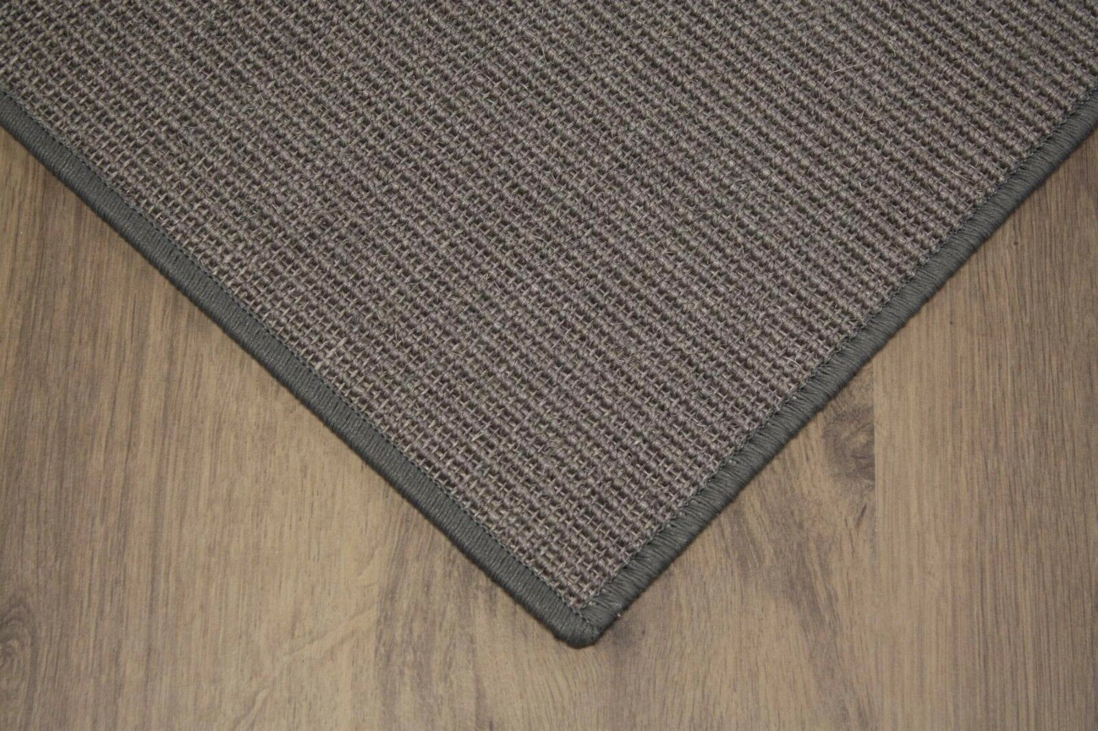 Sisal alfombra umkettelt gris 400x400cm 100% sisal gekettelt transportista