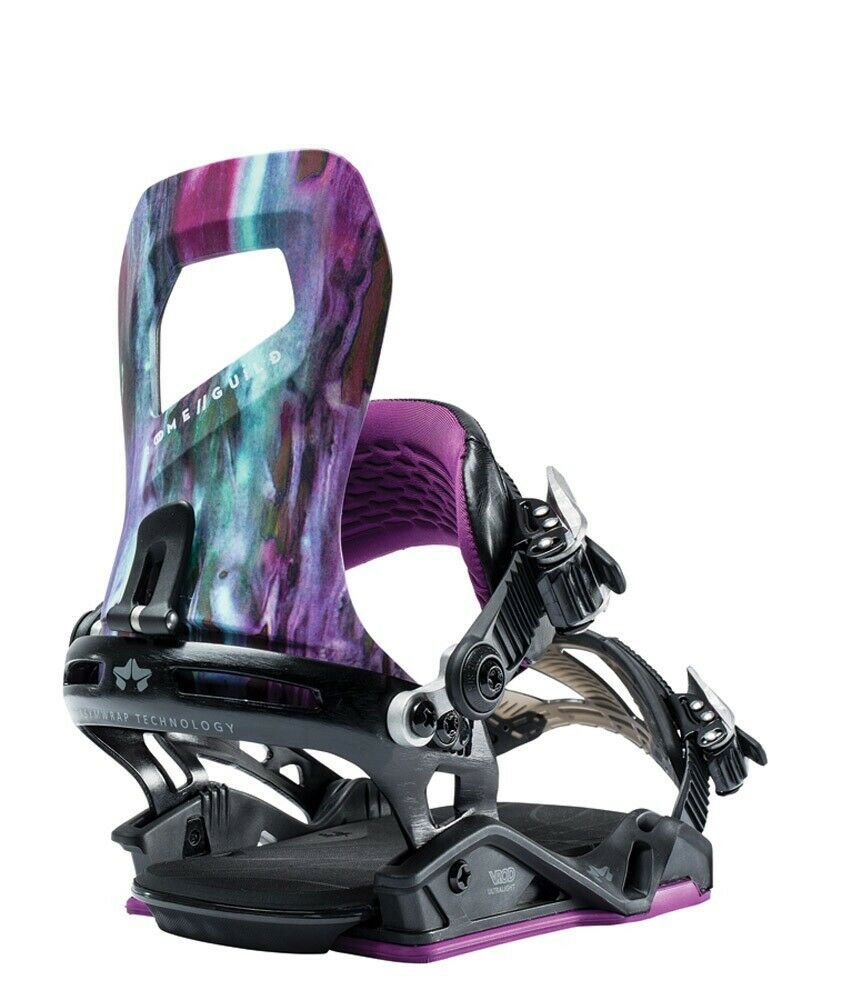 New 2019 Rome Guild Womens Snowboard Bindings Size S M Purple Reign (US 5 - 8)