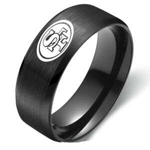 San-Francisco-49ers-Football-Team-Stainless-Steel-Men-039-s-Ring-Band-Size-6-13