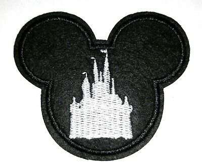 "Mickey Mouse Pirate Patch Halloween Embroidered Iron On Applique 2.75/"" X 2.25/"""