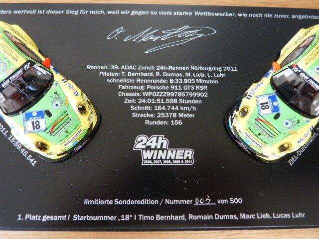 Porsche 911 Gt3 Rsr 24h Course Course Course Nürburgring 2011 Manthey Édition Spéciale Set 1   da4f0a