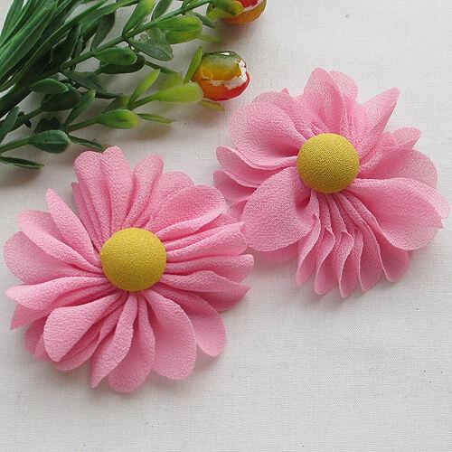 New Organza Ribbon Chiffon Flowers Bows Sewing Wedding Decoration 5//20pcs Upick
