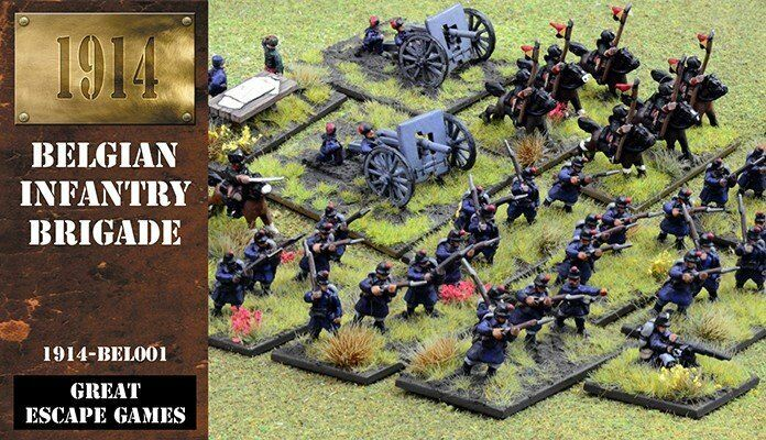 1914 BELGIAN INFANTRY BRIGADE - - - WORLD WAR I - GREAT ESCAPE GAMES - 12mm 7b8fe6