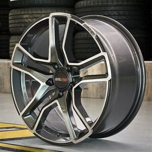 Motec-MCT8-Diamond-UA8-Star-8-x-18-Zoll-ET-45-5x112-Dark-Grey-Polish-fuer-Audi-VW