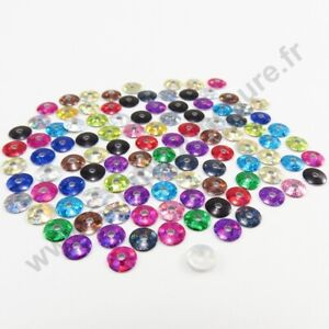 5mm 4mm Sequin strass thermocollant rond hotfix BORDEAUX 3mm