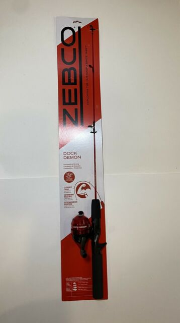 Zebco Dock Demon Spinning Reel and Fishing Rod Combo New In Package