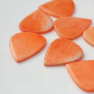 Toni-di-legname-JAZZY-Osso-per-Chitarra-Pick-PLECTRUM-Arancione-Blu-verde-rosa