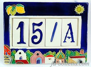 Numeri civici cornice in ceramica piastrelle numero civico