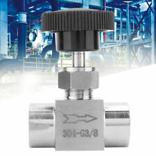 for Water High Pressure BSPP Water Transmission Needle Valve Stop Valve Black handle 1//4 inner wire