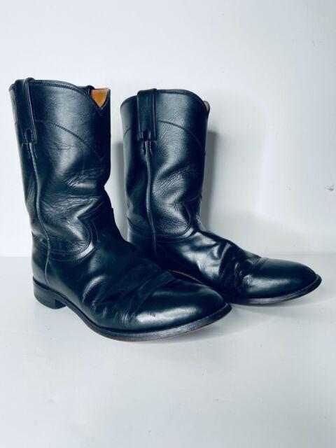 Justin 3133 Black Leather Cowboy