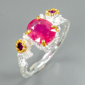 Luxury-lift-style-Natural-Ruby-925-Sterling-Silver-Ring-Size-8-75-R83171