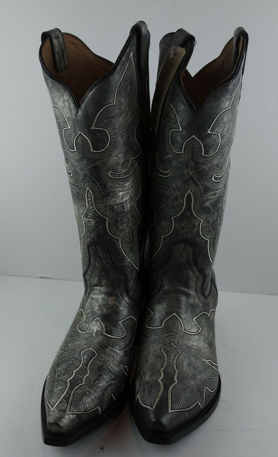 Stetson WESTERN botas para mujer 13  Vintage gris 12-021-6105-0933 GY M