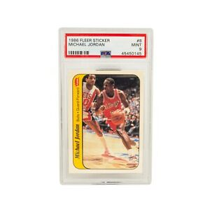 1986-Fleer-Sticker-Michael-Jordan-8-RC-MINT-PSA-9-Could-be-PSA-10-RARE