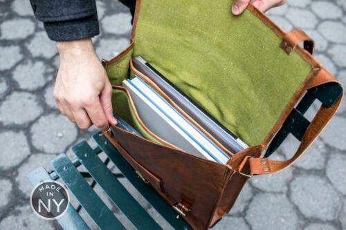 Laptop Echtes Herren Sling Leder Messenger Braun Vintage Schulter Tasche z0W0qd