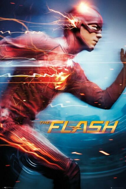 The Flash Justice League Movie Silk Fabric Poster Wall Art Print 12x18 24x36