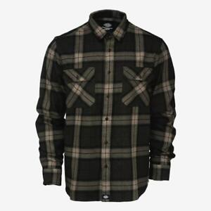 Dickies-Men-039-s-Brownsburg-L-S-Flannel-Shirt-Retail-44-99