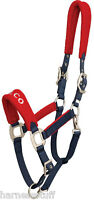 Zilco Quality Fleece Lined Headcollar Red, Blue, Chocolate And Green