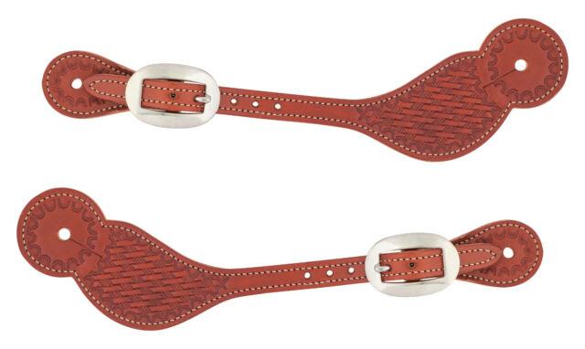 Weaver Basketweave Skirting Leather Regular Spur Straps