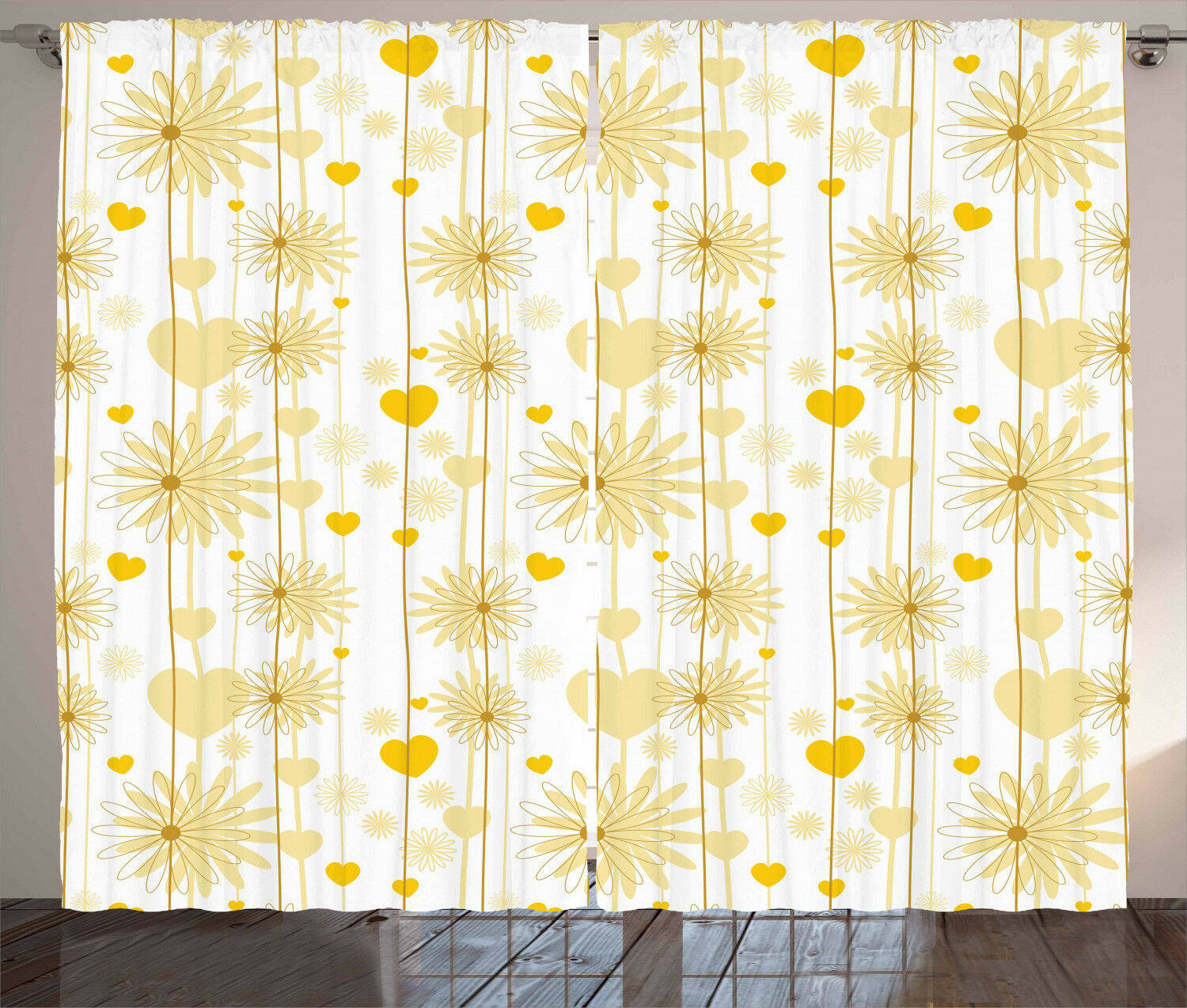 Gelb Curtains 2 Panel Panel Panel Set for Home Decor 5 Größes Available Window Drapes b72649