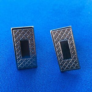 Vintage-Gentry-Signed-Silver-Tone-Metal-Cuff-Links-Rectangular-Mens-Accessories