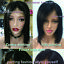 New-Virgin-Indian-Remy-Human-Hair-Bob-Lace-Front-Wig-Full-Lace-Pre-Plucked-Black thumbnail 6