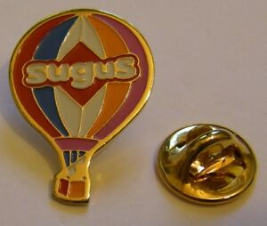 HOT-AIR-BALLOON-SUGUS-vintage-Pin-Badge
