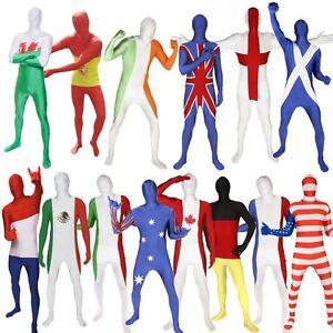 BANDIERA-Morphsuit-ideale-per-sport-di-squadra-Fancy-Dress-Costume-National-paese-gli-eventi