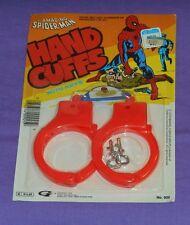 vintage Gordy THE AMAZING SPIDER-MAN HAND CUFFS MOC rack toy