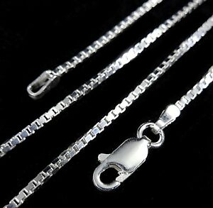 1-5MM-Solid-925-Sterling-Silver-Italian-Venetian-BOX-CHAIN-Necklace-Italy
