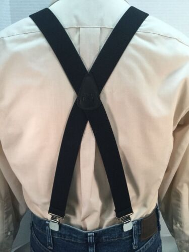 "Suspenders // Braces XL/"" Black New Adj 48/""  1.5/"" Made in the USA Men/'s"