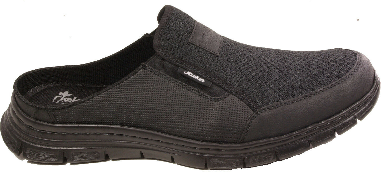RIEKER Schuhe Pantoletten Clogs Hausschuhe schwarz Weichbettung  NEU