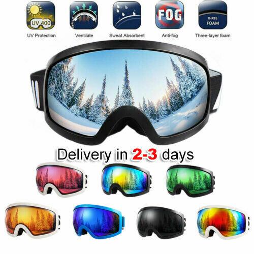 Lunettes De Ski Snowboard Cyclisme Pour Adultes Enfants Anti-Brouillard UV400 Lunettes de soleil