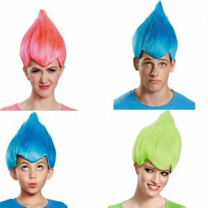 Seuss 90/'s New Red Wacky Wig Adult Troll Gnome Clown Doll Costume Team Dr