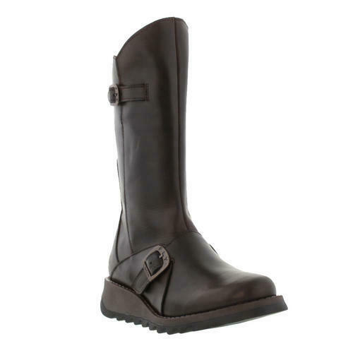 Fly London Mes 2 Womens Ladies Mid Calf Wedge Zip Up Leather Boots Size UK 4-8