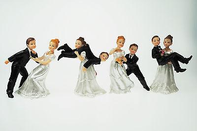 Brautpaar, Hochzeitspaar Lustig - Tortenaufsatz, Dekoration Hochzeit - 4 Modelle Ideales Geschenk FüR Alle Gelegenheiten