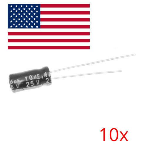 10PCS 10uF 25V Electrolytic Capacitors