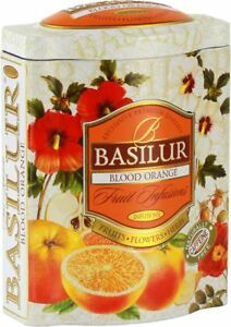Basilur Fruit Infusions   Blood Orange Herbal Tea   Hibiscus, Rose Hip, Apple by Basilur