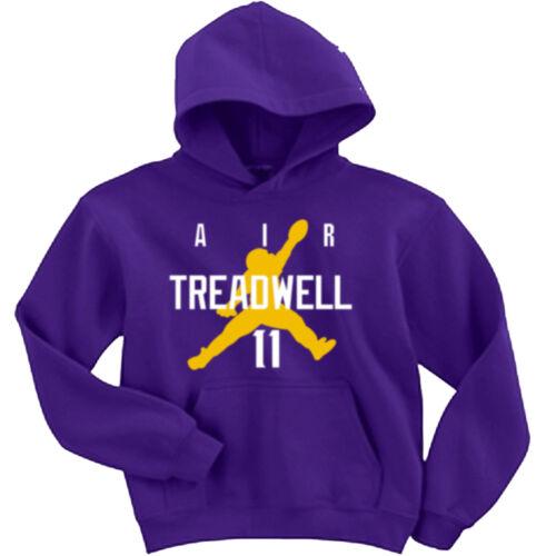 "Laquon Treadwell Minnesota Vikings /""AIR/"" jersey Hooded SWEATSHIRT HOODIE"
