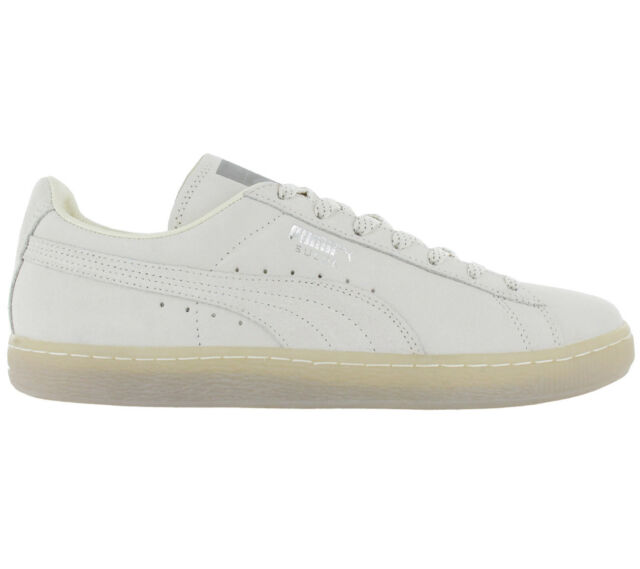 san francisco d913f 1d184 Puma Suede Classic Mono Ref Iced Men's Sneakers Shoes Leather White-Grey