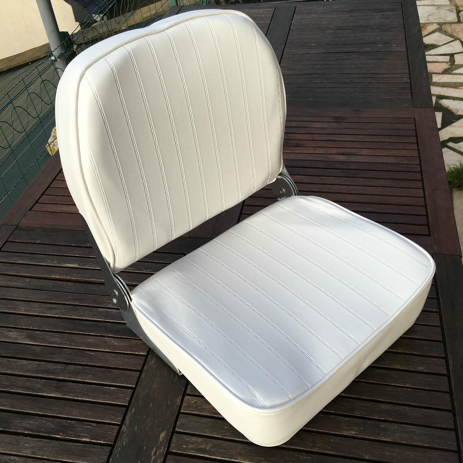 Lote de 2 Asiento Barco Plegable Skai  blancoo  tienda de venta en línea