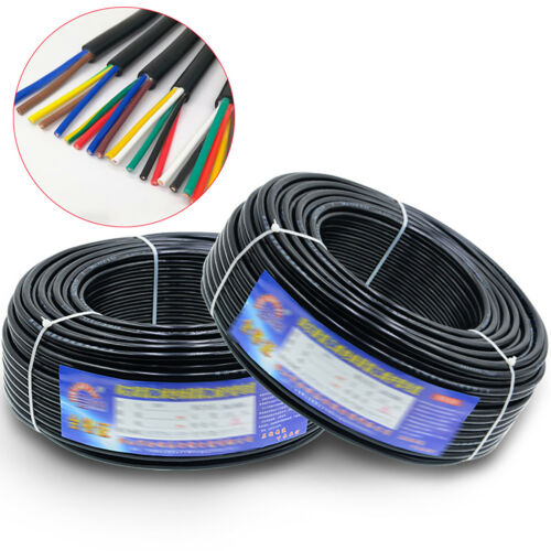 RVV Signal Cable Wire Mains Wire Electrical Wire PVC 2//3//4//5//6//7//8mm² Multi Core