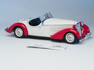 CMC-Audi-225-Front-Roadster-1935-Limited-Edition-1-18-Scale-M-075C-White-Red