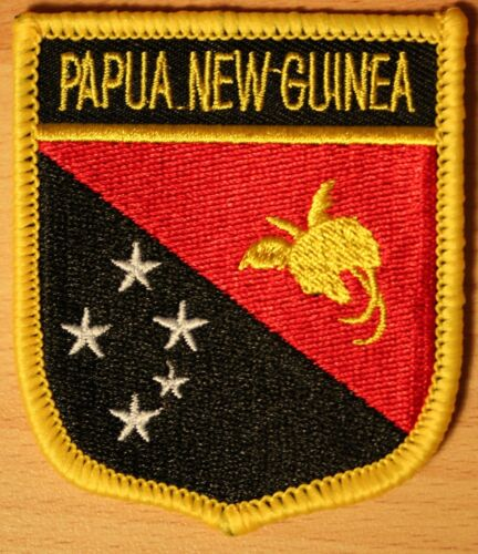 Papua New Guinea Shield Country Flag Embroidered PATCH Badge P1